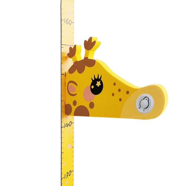 3D mobile girafe Hauteur de mesure Règle amovible magnétique pour bébé croissance Tableau Décor de chambre d'enfants Nursery Stickers muraux animaux