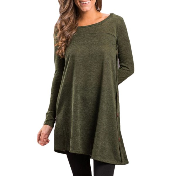 New Casual Women's Shirt Woman O-Neck Long Sleeve Loose Casual T-shirt Female Autumn Clothing Leisure Ladies Tee Shirt Long Tops
