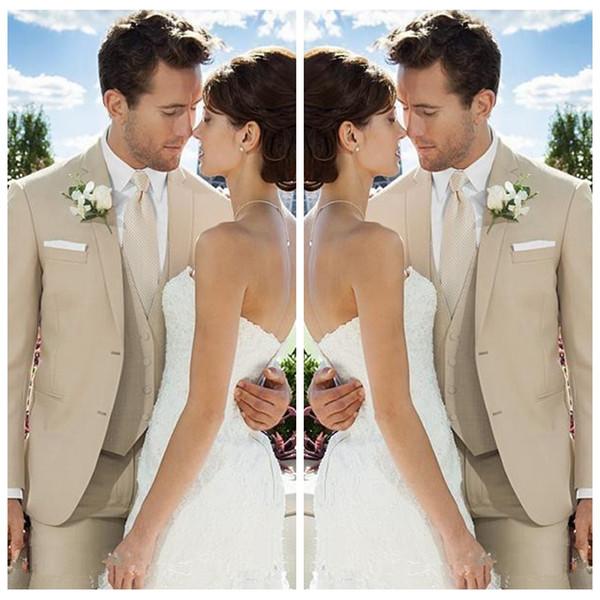2019 Sob Medida Ternos De Casamento Formal Dos Homens Do Noivo Smoking Personalizado Parte Dos Homens de Negócios Formal Vestidos de Festa de Formatura Barato (Jacket + Vest + Calças)