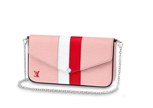 Pochette Félicie M62982 Nuovo Donne Sfilate di moda Borse pelle esotica Borse iconici catena pochette da sera Portafogli borsa