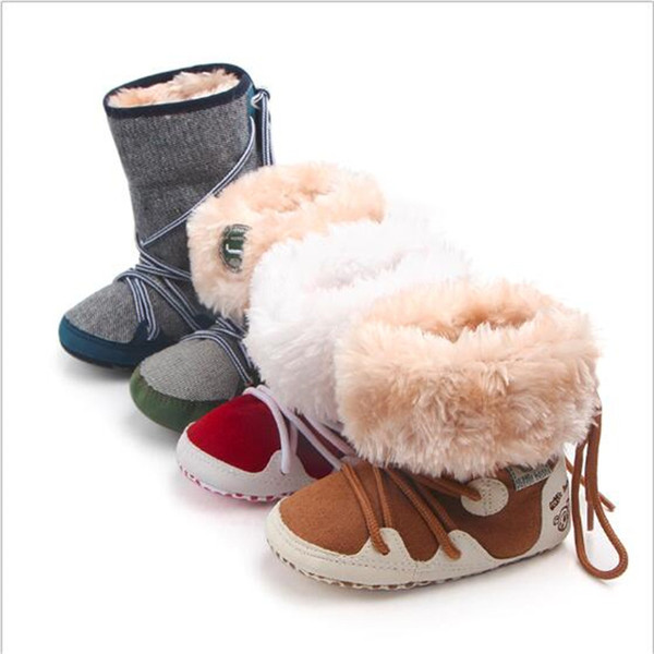 0-18M Baby Shoes Winter Snow Boots Newborn Soft Sole First Walkers Infant Fashion Super Warm Shoes
