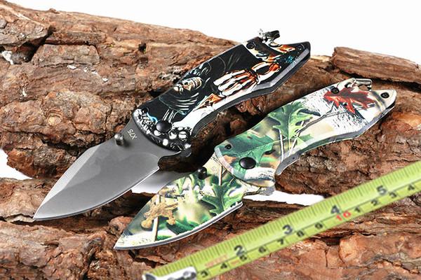 BK X75 Cuchillo plegable 440C Hoja 3D Mango Cuchillo táctico de titanio Herramienta de acampada de bolsillo abra rápido Cuchillo de caza Cuchillos de supervivencia Caja de venta al por menor