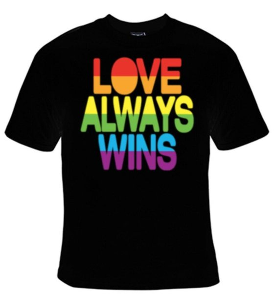 Liebe gewinnt immer T-Shirt Frauen-Harajuku Sommer 2018 Tshirt cattt Windbreaker Mops-T-Shirt