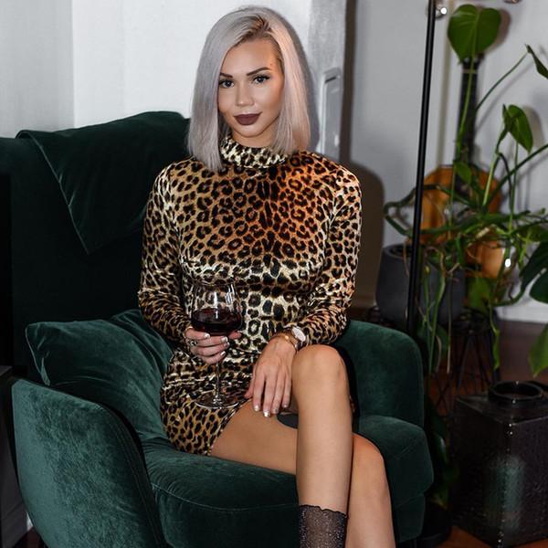 Nova Moda Longo Inverno Estiramento Vestidos de Festa Plus Size Skinny Sexy Desgaste Do Clube Leopardo Impresso Quente Maxi Bandage Bodycon Vestido FS5291