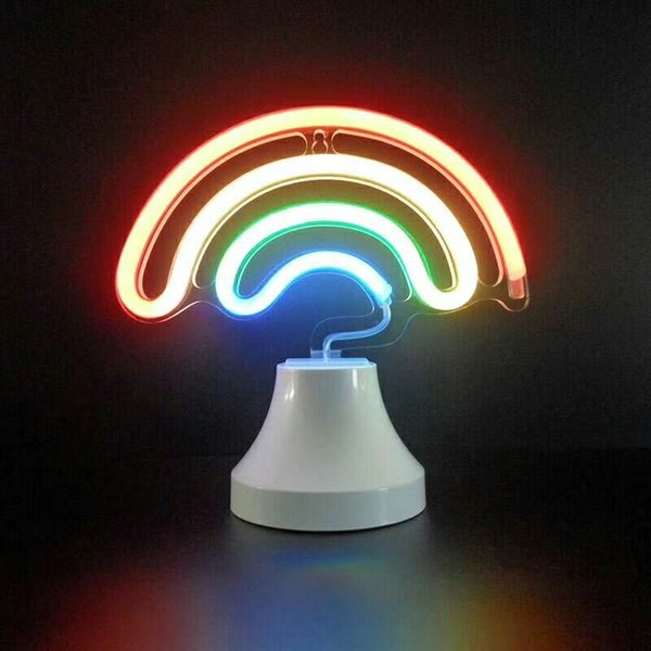 China supplies multicolor rainbow led table lamp cheap productsed night light usb battery operated for bedroom home decoration
