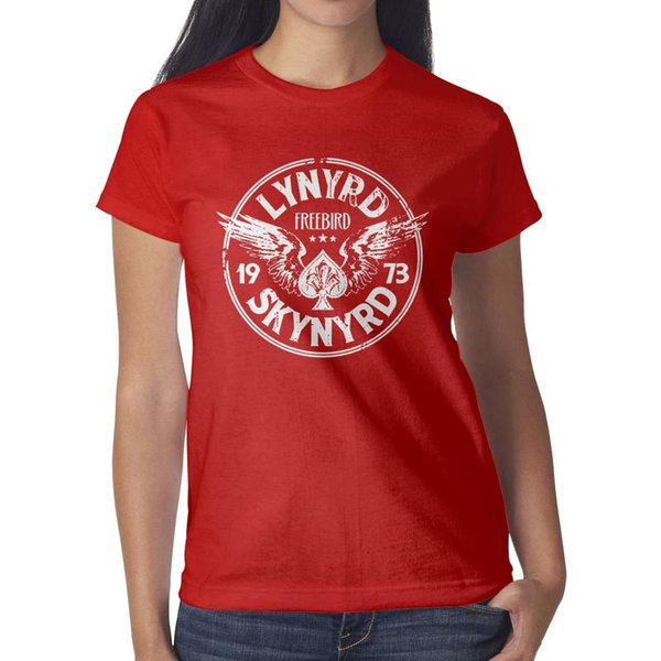Lynyrd Skynyrd Free Bird '73 Wings' red t shirt,shirts,t shirts,tee shirts shirt design vintage make a band casual t shirt