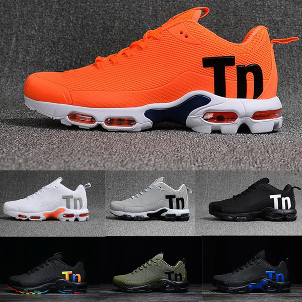 Compre Nike Air Max Tn Plus Airmax Tns Zapatillas Para Hombre Mercurial Plus Tn Ultra SE Negro Blanco Naranja Zapatillas De Deporte TN 97 Zapatillas