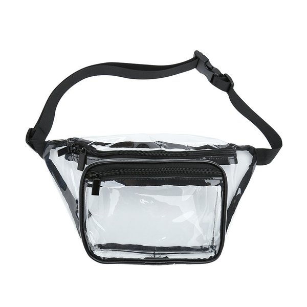 Clear Pvc Transparent Fanny Pack High Quality Sturdy Pvc Waist Bag Available For Custom J190521