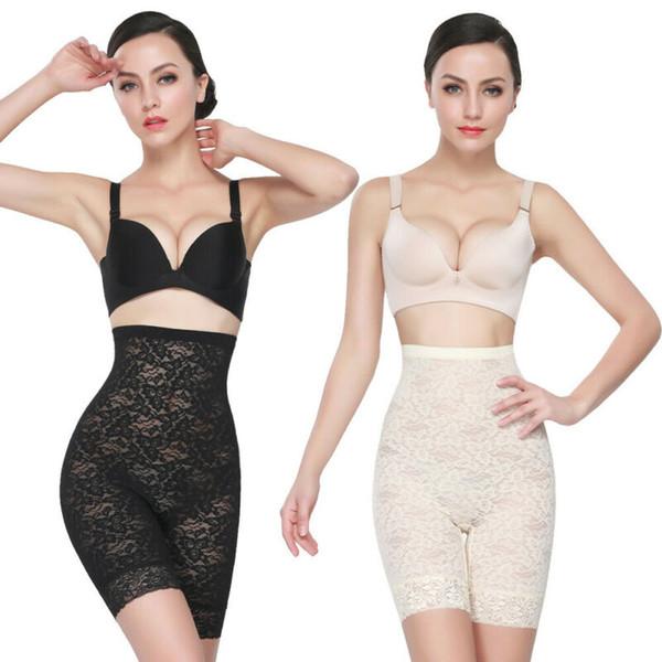 S-XL Women Body Shaper Lace High Waist Tummy Shaper Breathable Shapewear Panty Shaping Butt Lifter Pants Lace Control Pant