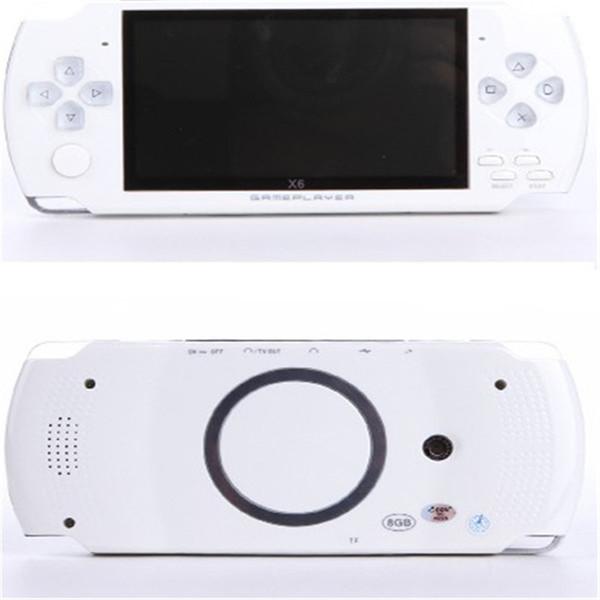 Venta caliente 32 bits 4.3 pulgadas HD 8G con auricular X6 Consola de juegos clásica FC SFC GBA NES juegos portátiles Consolas Protable Vibración retroalimentación
