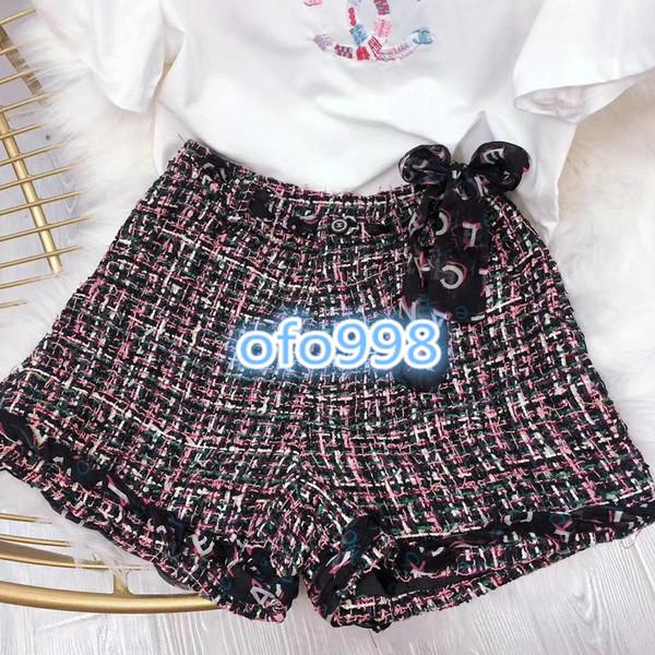 Высококачественные женские шортыS мини-шорты Streetwear Свободные шорты с высокой талией, украшенные пуговицами Твид Тонкие короткие женские модные шорты