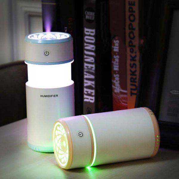 Mini USB Taşınabilir Aromaterapi Uçucu Yağ Difüzörü Nemlendirici Ev Araba Yatak Odası Aroma Hava Difüzörler için 200 ml Mist Maker Hediyeler