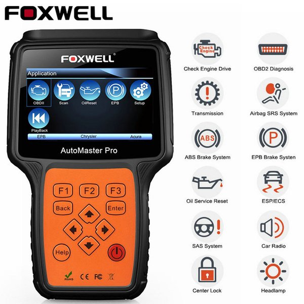 Foxwell NT624 Pro OBD2 ABS Airbag SRS Scanner Automotive Full Systems Engine Transmission EPB Oil Reset OBD Car Diagnostic Tool
