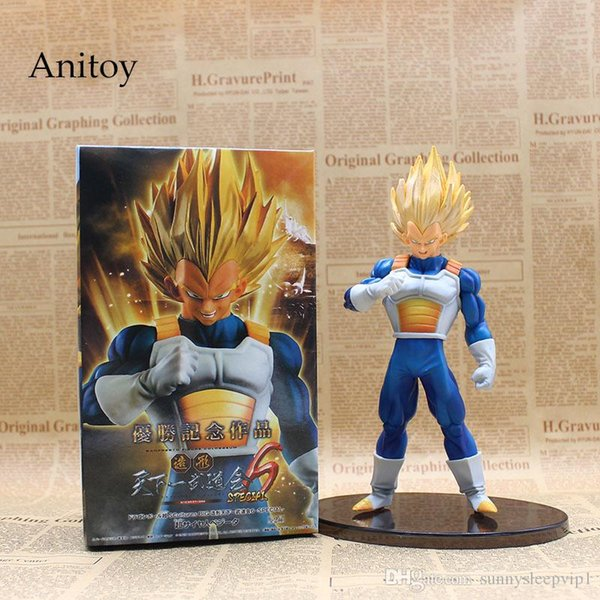 Anime Dragon Ball Z SC Special Super Saiyan Vegeta PVC Action Figures Collectible Model Toys 18cm KT3628