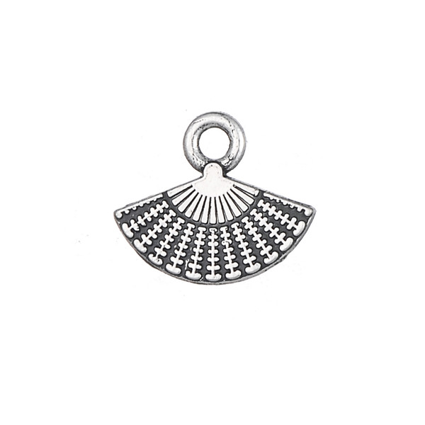 Myshape Antique Silver Tone Hand Fan Floating Charms Pendants in Wholesale Charms Alloy Metal Jewelry 20pcs lot