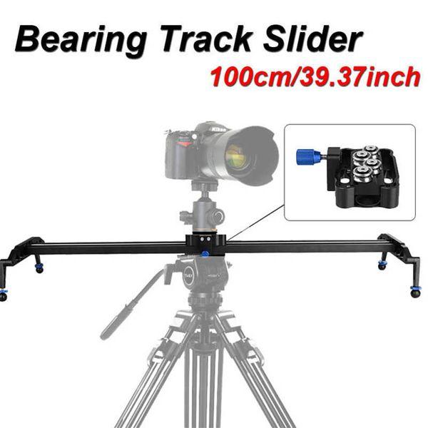 "Freeshipping 100cm/39"" DSLR Camera Track Dolly Slider Video Stabilization Rail System Photo Studio Accessories Slider For Canon Nikon Sony"