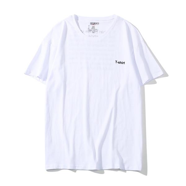 2019 New Vetement White High Quality Cotton T-shirt Men Women Summer O-neck Vetements T Shirt Leisure Top Tees #5
