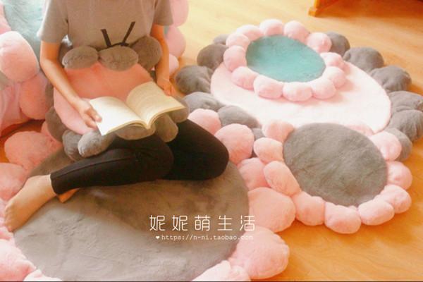 Runde Blume Schlafzimmer Teppich Computer-Hängesessel Mat Griffige Kinderzimmer Krabbeln Mats Baby-Raum-Spiel-Matten Yoga-Kissen