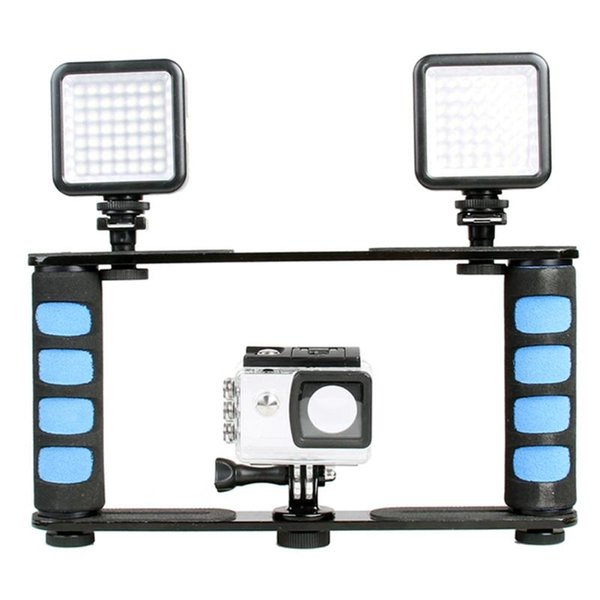 Dual Handle Grips Video Cage Stabilizer Holder for Smartphone Action Camera for most DSLR / ILDC cameras