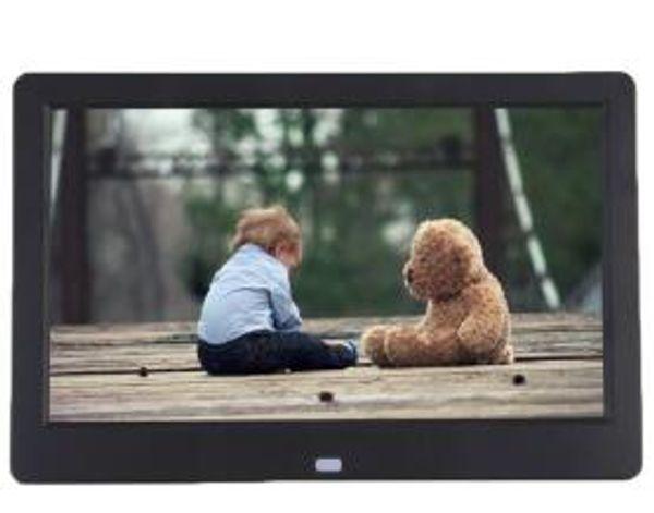 Cadre photo numérique Super Slim 10.1 10 pouces TFT LCD Album réveil lecteur MP4 16: 9 1024 * 600 JPEG / JPG / BMP MMC / MS / SD MPEG AVI Xvid