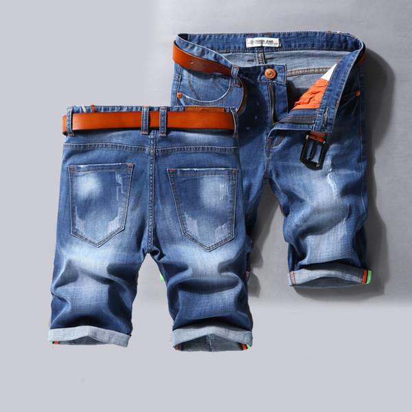 Herren Retro Casual Shorts Cargo Denim Shorts Herren Jeans Vintage Faded Multi-Pockets Biker Kurze Jeans Plus Size No Belt