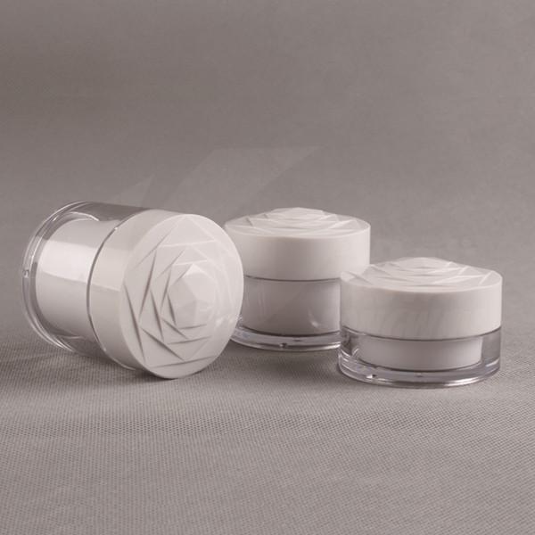 20g 30g 50g Portátil Acrílico Cosméticos Vazio Pote Pote Shampoo Maquiagem Creme Para o rosto Container Caixa de Viagem para Cuidados de Loção 100 pçs / lote
