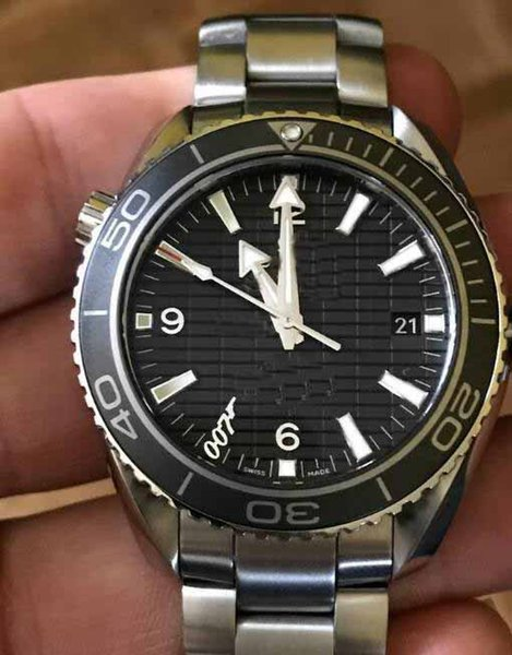 latest Mens Business Luxury Top Quality 45.5mm Co Axial 316L mechanical Movement Automatic CAL.8500 Top Quality Black dial Watches