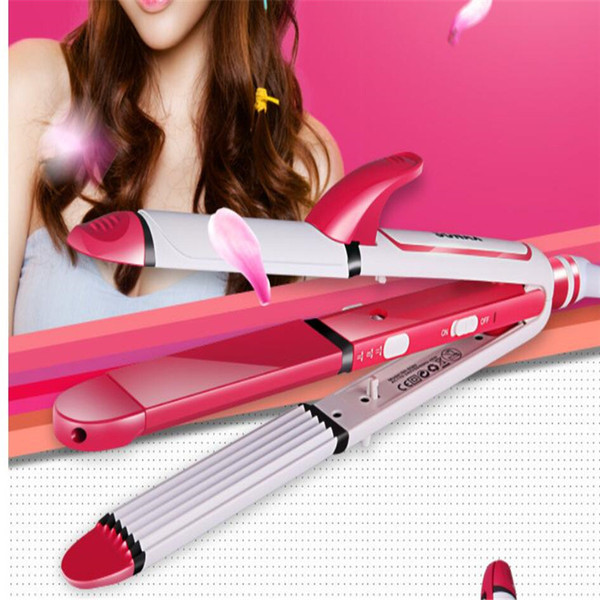 3 IN 1 electric Hair Curling hairstyler curling Ceramic Flat Iron Corrugated roller waver curler iron styling hair straightener