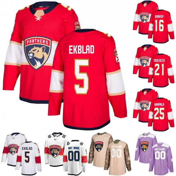 fe296d19 Personalizado Florida Panthers camisa de hóquei feito especialmente  personalizado NENHUM número do nome dos homens das