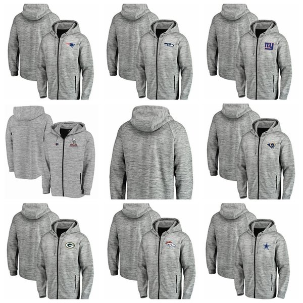 883e3e68 Mens Hoodie Denver Broncos Cleveland Browns Dallas Cowboys Green Bay  Packers Space Dye Performance Full Zip Hoodie Heathered Gray Shirts Tshirt  From ...