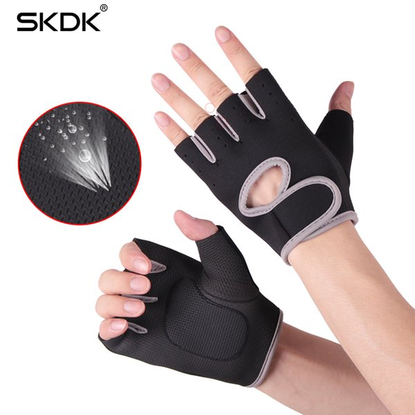 Wholesale-Gym Fitness Gloves Breathable Body Building Training Wrist Gloves Weight Lifting Silica Gel Anti-Skid Sports Workout Gloves