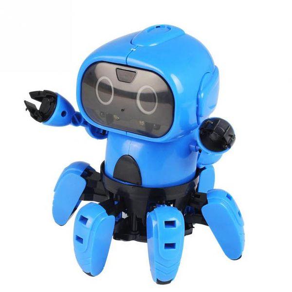 Inteligente de inducción RC Robot DIY ensamblado eléctrico Seguir Robot con sensor de gesto Evitación de obstáculos Niños Juguetes educativos HD