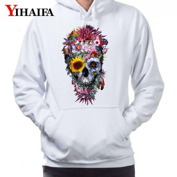 Unisex Hoodie Green Skull 3D Print Sweater Sweatshirt Jacket Coat Pullover Tops