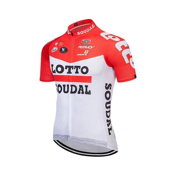 Lotto Pro Team dos homens de qualidade superior Camisa de Ciclismo de Manga Curta ajuste apertado Bicicleta de Estrada de Bicicleta Roupas de Ciclismo tops