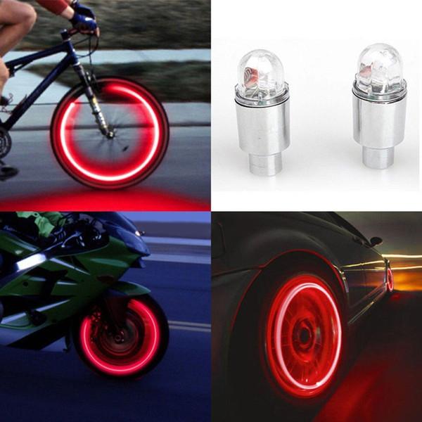 2pcs LED Tire Valve Tige Caps Lumière Néon Auto Accessoires Vélo Vélo De Voiture Auto Étanche Jeunesse Vélo Exercice Lampe De Poche 30 # 158461