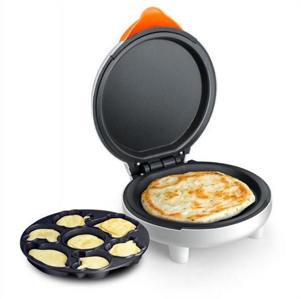 Elektromekanik çift taraflı pişirme pan kek ev ısıtma pizza gözleme makinesi Mini Karikatür İşlevli Pasta Pişirme Yemekleri