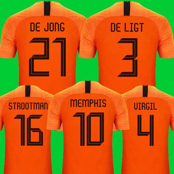 Grosshandel Nationalmannschaft Von Niederlande Mit Top Qualitat Von Holland 2019 2020 De Jong Promes Fussball Trikot Von Holland De De Ligt Van Dijk