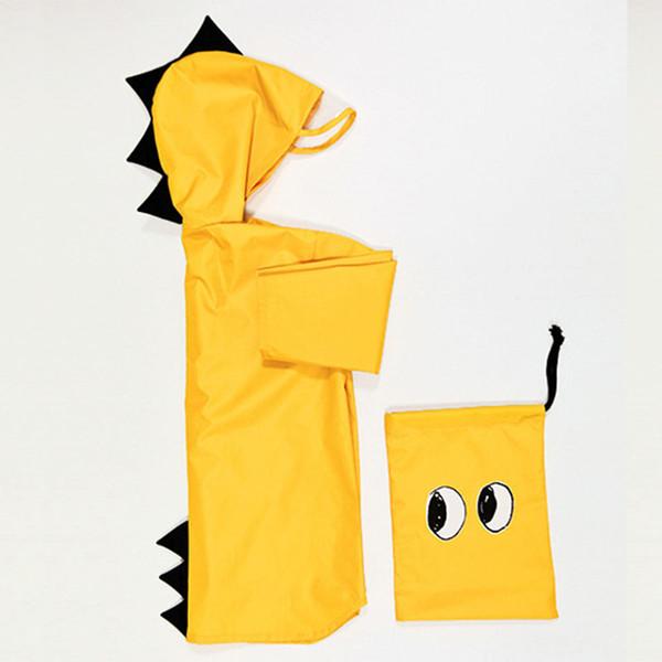 EnkeliBB Japan Design Manteau de pluie pour les enfants Les enfants Beau manteau de bébé dinosaure Vêtements imperméables jaunets / Red filles