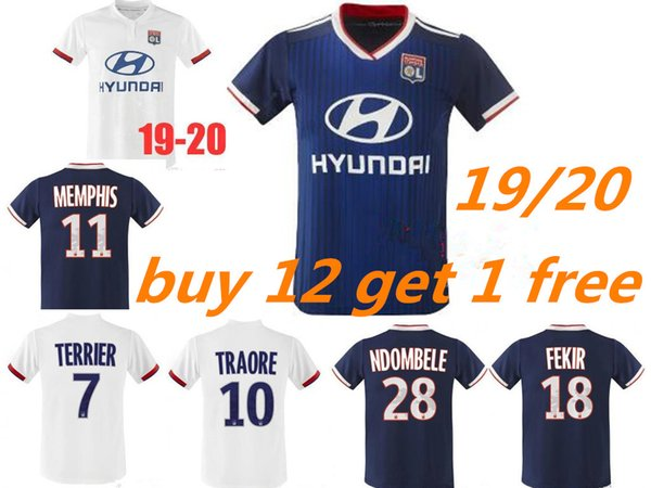 9a563aff8fe Thailand 2019 2020 Olympique Lyonnais soccer jersey 19 20 Maillot de foot  Lyon home Away TRAORE