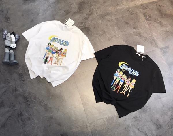 t shirts women Sailor Moon cartoon cute print fashion design short sleeve unisex cotton loose version t-shirt