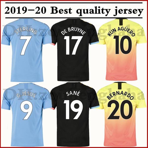 Kit enfant maillot de foot urbain 2019 2020 SANE 19 20 troisième domicile maillots de BRUYNE KUN AGUERO STERLING JESUS manchester Maillot de football