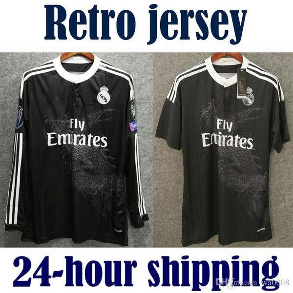 Retro Real Madrid 2014 2015 Domicile Football Maillot BALE RONALDO KROOS BENZEMA 14 15 SERGIO RAMOS ASENSIO Maillot manches longues
