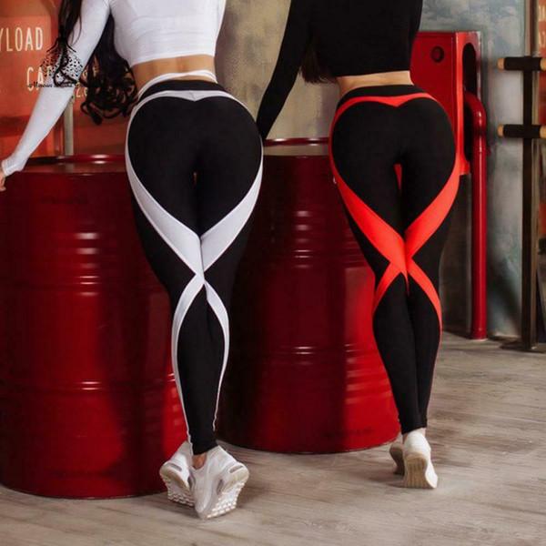 Gamaschenyogahosen Frauen-Eignungs-Gamaschen-Sportkleidungs-Frauen-elastisches reizvolles dünnes PU
