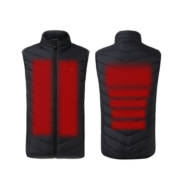 best selling 2019 New Arrived Electric Heated Man Jacket Vest Waistcoat Woman Coat Feather Thermal Softshell Jacket Winter Heating Clothes