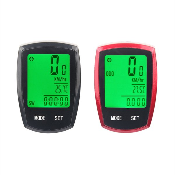 Bicycle Computer Speedometer Wireless & wired Mileage Multi-function LED Back Light Waterproof Stopwatch Bike Accessories #359103