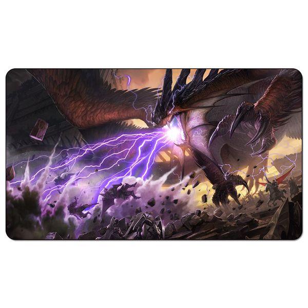 Sihirli Kurulu Oyunu Playmat: Tarkir Fragman Dragons 60 * 35 cm boyutu Masa Mat Mousepad Oyna Matwitch fantezi gizli koyu kadın sihirbazı