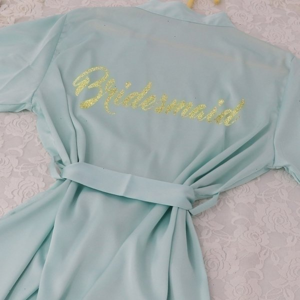 Demoiselle d'honneur verte