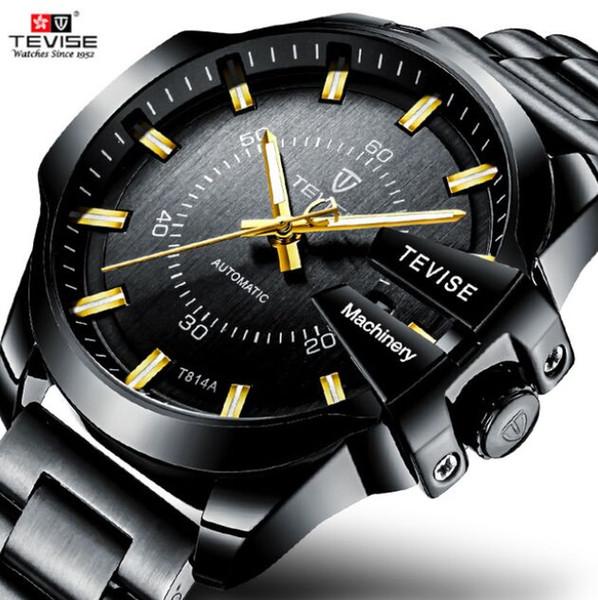 TEVISE Automatic Men Mechanical Watch Luminous Water-Resistant Sport Business Wristwatch T814
