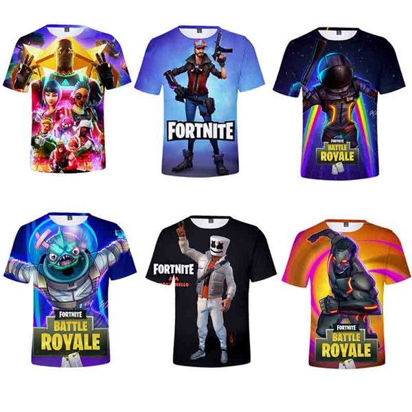 Short Sleeve T-Shirt Sweat-Shirt Men And Women Children's Wear New Adult Easy Game Pattern Summer Wear 39