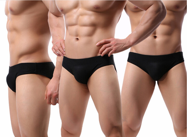Sous-vêtements sexy sous-vêtements en soie sous-vêtements sexy taille basse culotte homme confortable en nylon mâle sous-vêtements hommes sous-vêtements sexy mélange couleur J190116